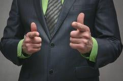 Você pode Você pode fazê-lo Negócio de aprovação do homem Imagem de Stock Royalty Free