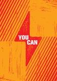 Você pode Molde criativo inspirador do cartaz das citações da motivação Conceito de projeto da bandeira da tipografia do vetor ilustração stock