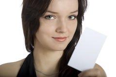 Você quer meu cartão? imagens de stock
