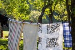 Você sabe em um gancho frouxamente para secar, prendido com as tosquiadeiras para stic imagem de stock royalty free