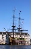 VOC船在阿姆斯特丹 库存照片