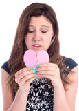 Você quebrou meu coração! Foto de Stock Royalty Free