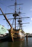 VOC ship 3. VOC ship in Amsterdam Nemo museum royalty free stock image