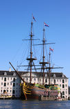 VOC Ship in Amsterdam. Netherlands Stock Photos
