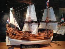 VOC ship Groningen in museum Magong Penghu islands Taiwan. Model of old VOC trade ship Groningen (Netherlands) in museum Magong on Penghu islands in Taiwan Stock Images