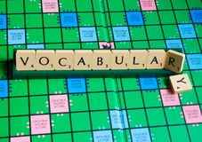 Free Vocabulary Word On Scrabble For Use With Designs Royalty Free Stock Photos - 159254658
