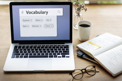 Vocabulary Words Learning Studying Explanation Royalty Free Stock Image