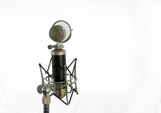 Vocal condenser microphone with wind screen  on white background Royalty Free Stock Image