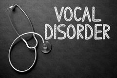 Vocal Disorder on Chalkboard. 3D Illustration. Medical Concept: Black Chalkboard with Handwritten Medical Concept - Vocal Disorder with White Stethoscope. Top royalty free stock images