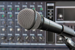 Vocal microphone Stock Images