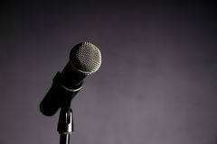 Vocal Microphone Against Dark Background 2 Royalty Free Stock Images