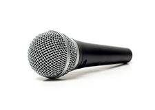 Vocal microphone close up  Royalty Free Stock Images