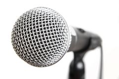 Vocal microphone isolated Stock Photography