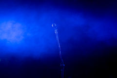 Vocal microphone on stage royalty free stock photography