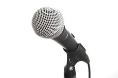 Vocal microphone on stand Royalty Free Stock Photo