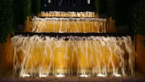 Vocal Montjuic fountain in Barcelona stock video footage