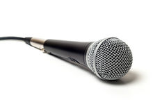 Vocal wired microphone close up  Stock Photos
