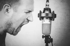 Vocalist della roccia Immagine Stock