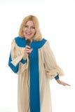 Vocalista 2 do elogio da mulher imagens de stock