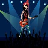 Vocalista de la banda de rock stock de ilustración