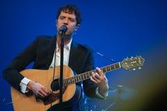 Vocals del cavo di Damian Kulash e giocatore di chitarra Immagine Stock Libera da Diritti