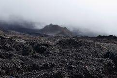 Vocano Piton de la Fournaise. Lava field at the slope of the Piton de la Fournaise volcano in Réunion island Stock Photography