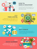 Vocation summer travel infographic. Summer Royalty Free Stock Photo