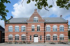 Vocational university in Jelling. Vocational university in the Danish town Jelling stock photography
