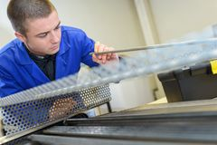 In the vocational workshop. Work royalty free stock images