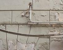 Vochtige vochtigheid op muur stock afbeelding