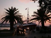 Voda di Baska - della Croazia fotografia stock