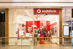 Vodafone armazena Imagens de Stock Royalty Free