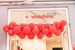 Vodafone balloons Royalty Free Stock Photos