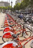 Vodafone Bicing in Barcelona Stock Images