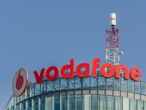 Vodafone byggande Arkivbild
