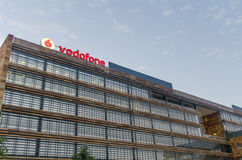 Vodafone construisant Madrid Photographie stock libre de droits