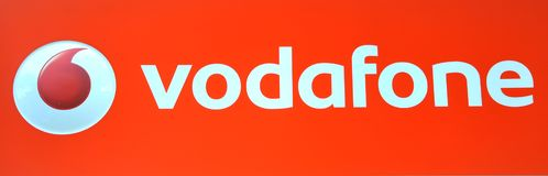 Vodafone logo Stock Photo