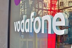 Vodafone logo Royalty Free Stock Images