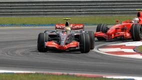 Vodafone McLaren Mercedes MP4-22 Lewis Hamilton Br Royalty Free Stock Photos