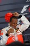 Vodafone McLaren Mercedes MP4-22 Lewis Hamilton Br Royalty Free Stock Images