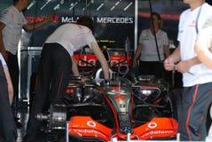 Vodafone McLaren Mercedes MP4-22 Lewis Hamilton Br Stock Image