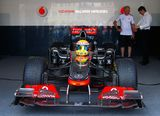 Vodafone McLaren Mercedes sport car Stock Photography