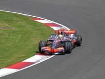 Vodafone Mclaren MP4-22 Lewis Hamilton British GP Royalty Free Stock Photos