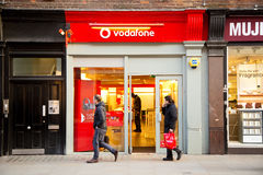 Vodafone phone shop Stock Photography