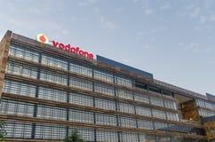 Vodafone que construye Madrid Fotografía de archivo libre de regalías