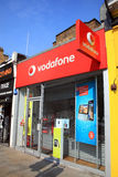 Vodafone Shop. London, United Kingdom, Apr 17, 2011 : Vodafone advertising signs at one of its branch retail outlets at Notting Hill Gate Royalty Free Stock Image