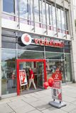 Vodafone shop exterior Royalty Free Stock Images