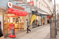 Vodafone shop Royalty Free Stock Images