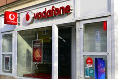 Free Vodafone Sign And Shop Royalty Free Stock Photos - 164882398