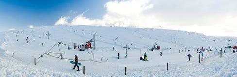 Vodafone Ski Resort at Serra da Estrela, Portugal. COVILHA, PORTUGAL - MARCH 1, 2013: Vodafone Ski Resort at Serra da Estrelal. Serra da Estrela is the highest Stock Images